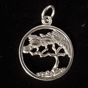 Sterling silver BODHI TREE of Life pendant NEW